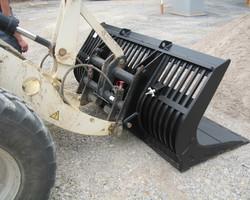 Puinbak wiellader 6/7 ton met inlegplaat